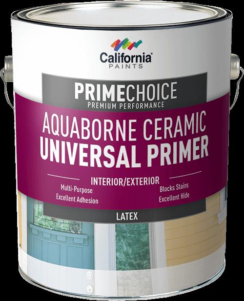 Aquaborne ceramic universal primer california paints - Exterior acrylic latex stain blocking primer ...