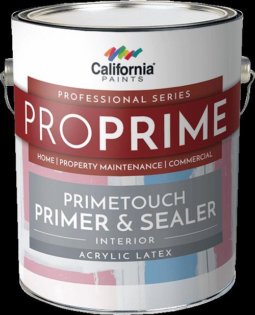 Primetouch primer sealer california paints for Exterior latex primer