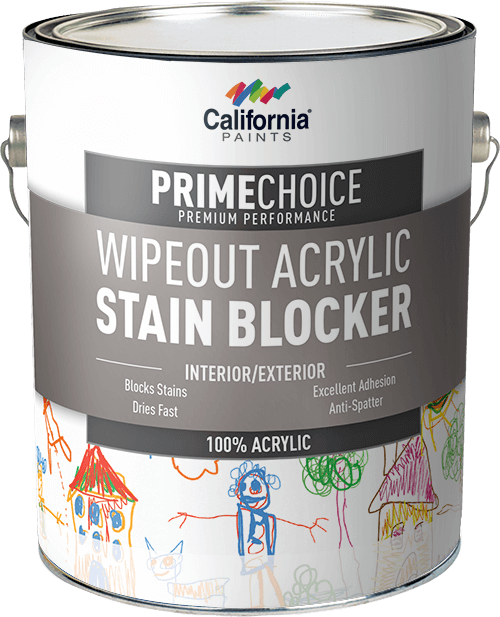 PrimeChoice WipeOut Acrylic Stain Blocker No Sheen Wipe Out 100% Acrylic  Latex Stain Blocker Is A Quick Drying, High Performance 100% Acrylic Latex  Stain ...